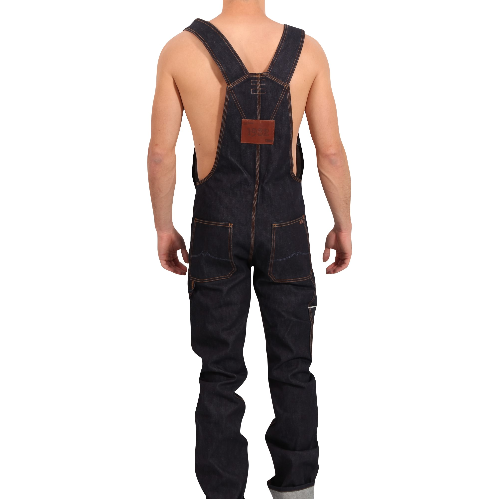 mustang jeans herren jeans latzhose bib overall in dunkelblau gr e m ebay. Black Bedroom Furniture Sets. Home Design Ideas