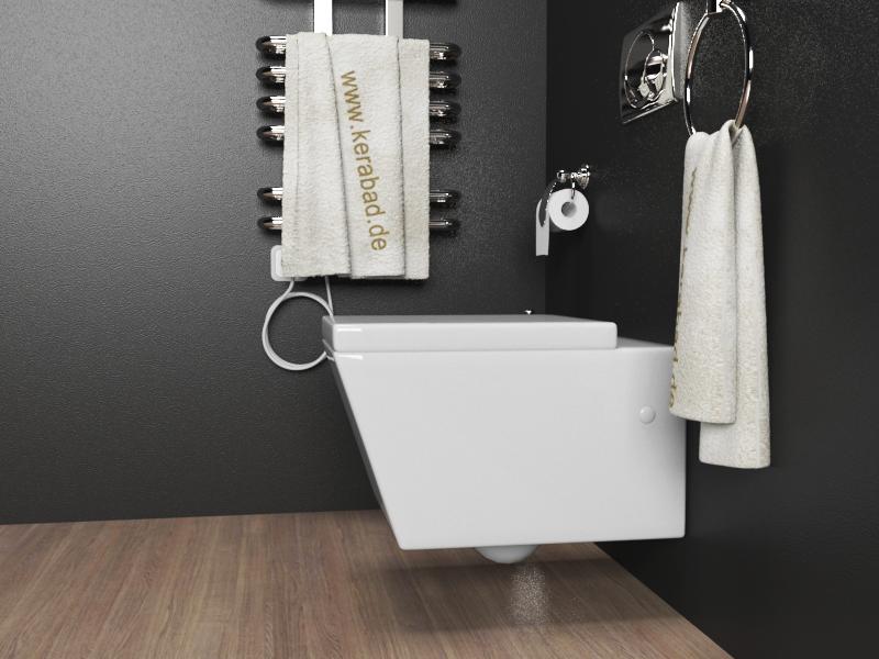 wand h nge wc h nge bidet inkl soft close wc sitz kb89 set ebay. Black Bedroom Furniture Sets. Home Design Ideas