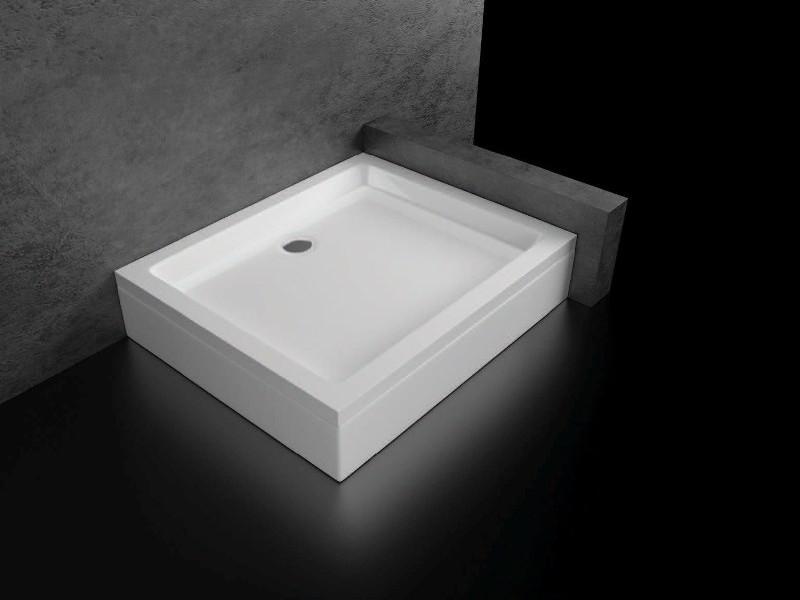 acryl duschwanne duschtasse inkl sch rze gestell ablauf 75x90cm kb dw7590 eckig ebay. Black Bedroom Furniture Sets. Home Design Ideas