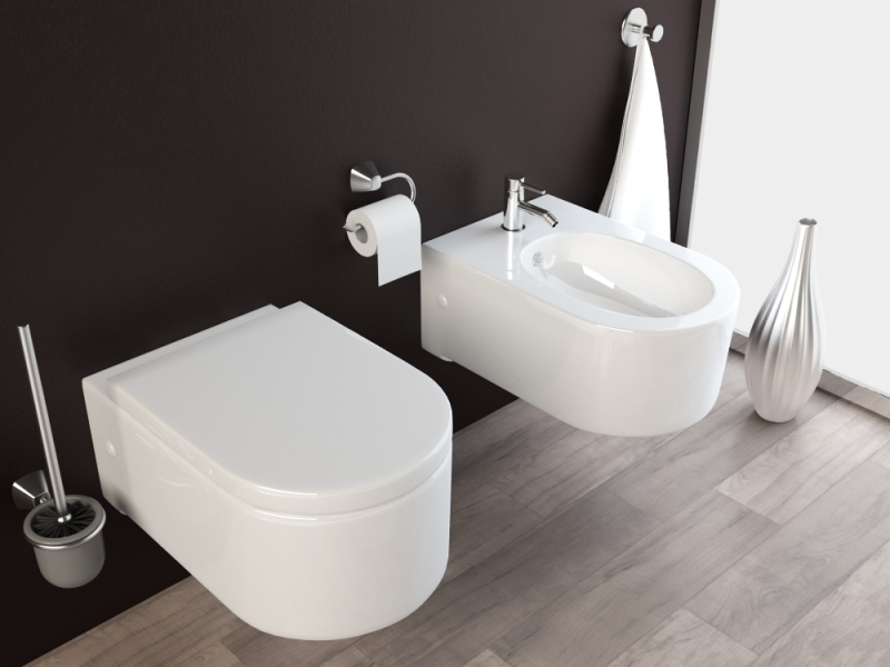 wand h nge wc h nge bidet inkl soft close wc sitz kb65 set ebay. Black Bedroom Furniture Sets. Home Design Ideas