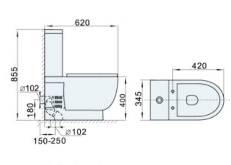 stand wc sp lkasten wc sitz kombination kbm82 ebay. Black Bedroom Furniture Sets. Home Design Ideas