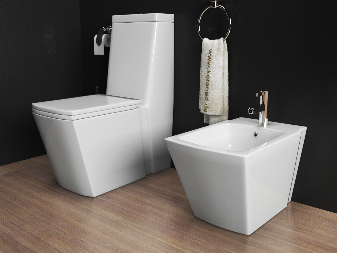 stand wc stand bidet wc sitz kombination kb398 ebay. Black Bedroom Furniture Sets. Home Design Ideas