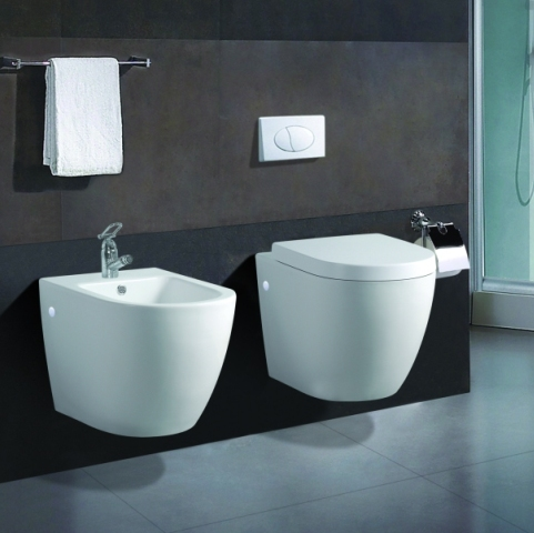 wand h nge wc wand h nge bidet inkl wc sitz komplett. Black Bedroom Furniture Sets. Home Design Ideas