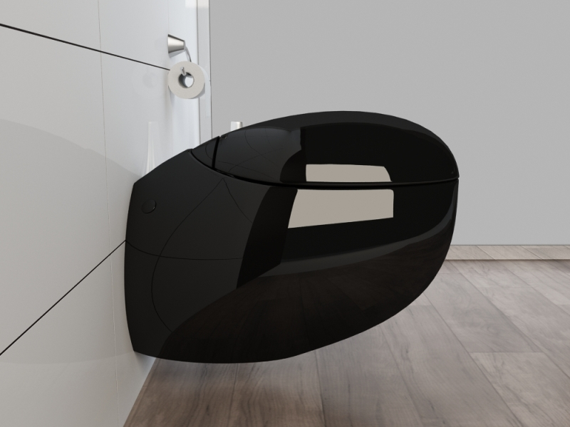 design wand h nge wc toilette inkl soft close wc sitz kb01s schwarz ebay. Black Bedroom Furniture Sets. Home Design Ideas