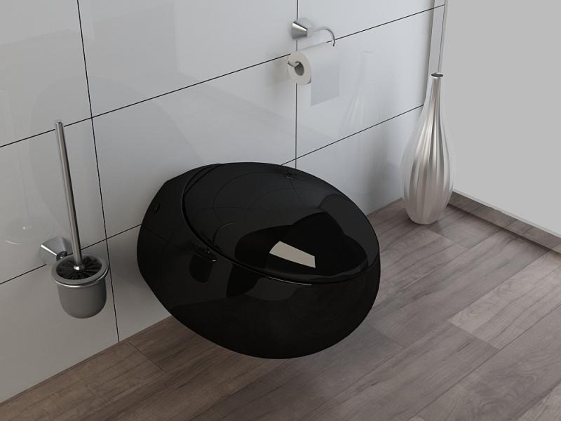 design wand h nge wc toilette inkl soft close wc sitz kb01s schwarz ebay. Black Bedroom Furniture Sets. Home Design Ideas