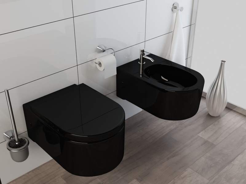 wand h nge wc h nge bidet inkl soft close wc sitz kb65s. Black Bedroom Furniture Sets. Home Design Ideas