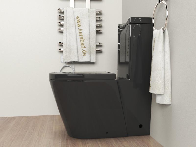 design stand wc sp lkasten deckel kombination kb380s schwarz ebay. Black Bedroom Furniture Sets. Home Design Ideas