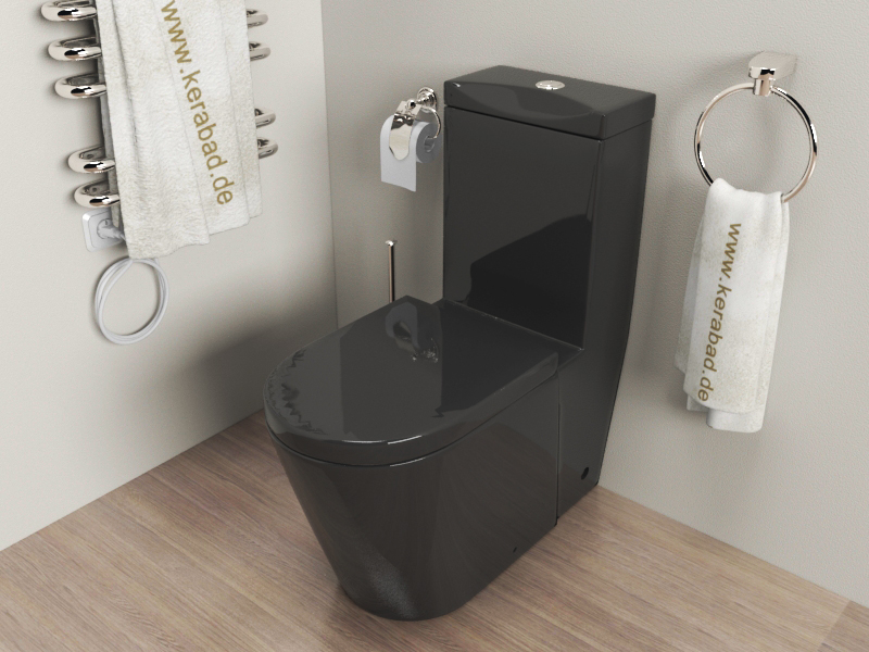 design stand wc sp lkasten deckel kombination kb380s schwarz ebay. Black Bedroom Furniture Sets. Home Design Ideas