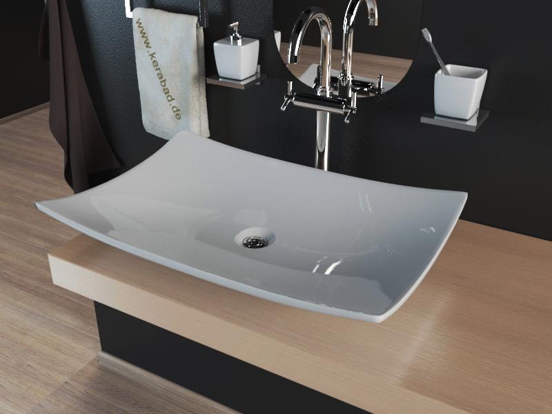 keramik aufsatzwaschbecken waschschale waschtisch kbw233 ebay. Black Bedroom Furniture Sets. Home Design Ideas