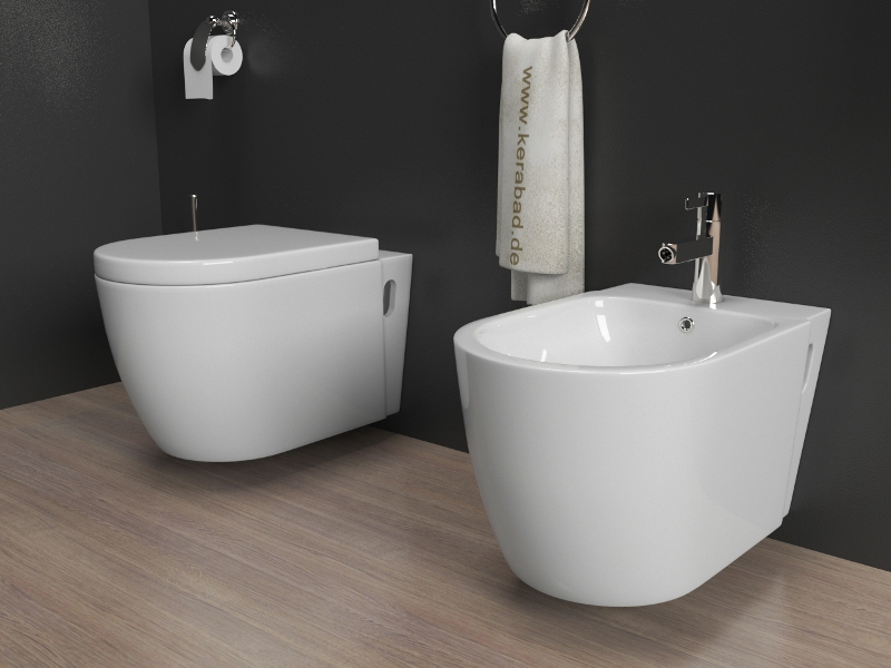 design wand h nge wc h nge bidet inkl soft close wc sitz kb80 set ebay. Black Bedroom Furniture Sets. Home Design Ideas