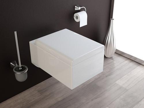 wand h nge wc toilette inkl soft close wc sitz kb62 ebay. Black Bedroom Furniture Sets. Home Design Ideas