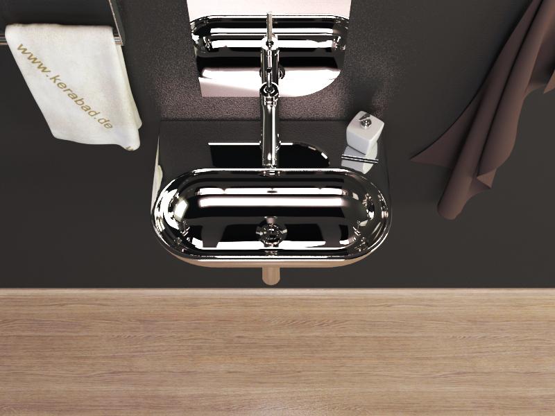 KERAMIK WASCHBECKEN WASCHSCHALE WASCHTISCH GÄSTE WC  ~ Waschbecken Tisch