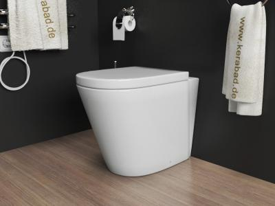 stand wc toilette inkl soft close wc sitz kb80b ebay. Black Bedroom Furniture Sets. Home Design Ideas