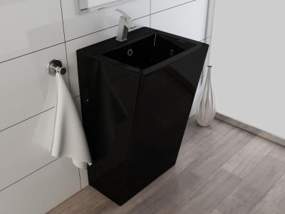 Design standwaschbecken waschtisch waschbecken s ule kbe3s - Waschbecken schwarz ...
