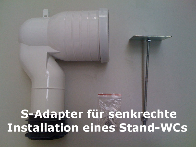 s adapter anschlusstutzen f r stand wc ebay. Black Bedroom Furniture Sets. Home Design Ideas