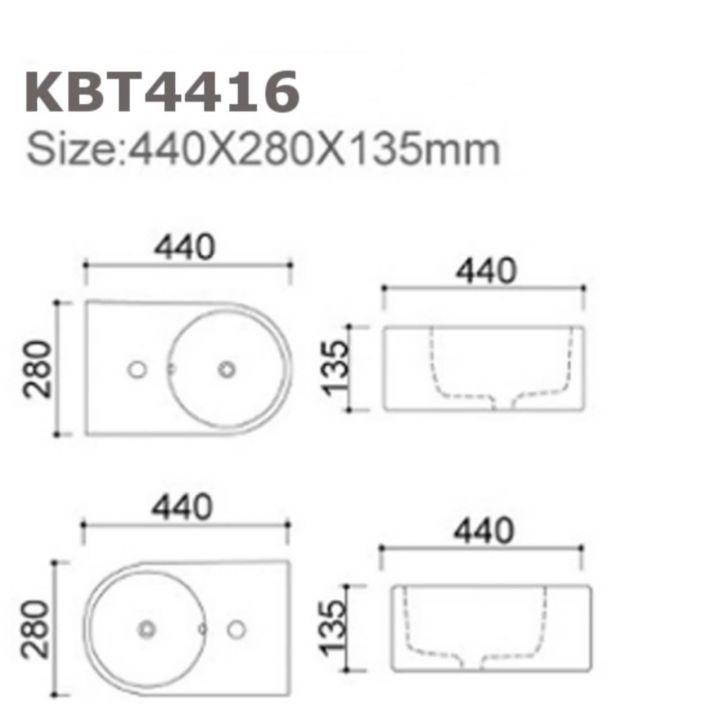 keramik waschbecken waschtisch wandh ngend aufsatzwaschbecken g ste wc kbt4416. Black Bedroom Furniture Sets. Home Design Ideas