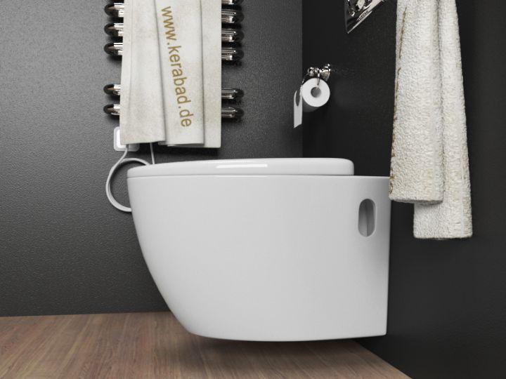 design wand h nge wc inkl wc sitz mit absenkautomatik. Black Bedroom Furniture Sets. Home Design Ideas