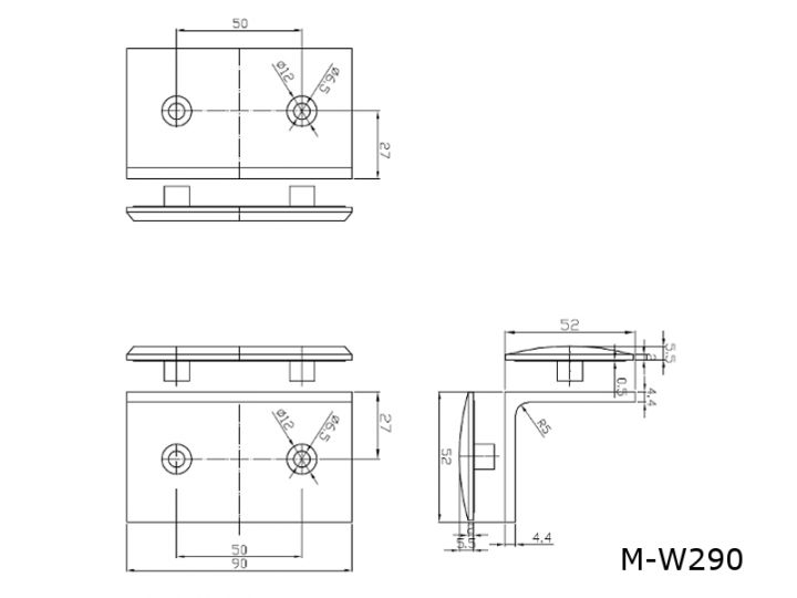 duschbeschlag messing chrom glast rbeschl ge t rband winkelverbinder m w290. Black Bedroom Furniture Sets. Home Design Ideas