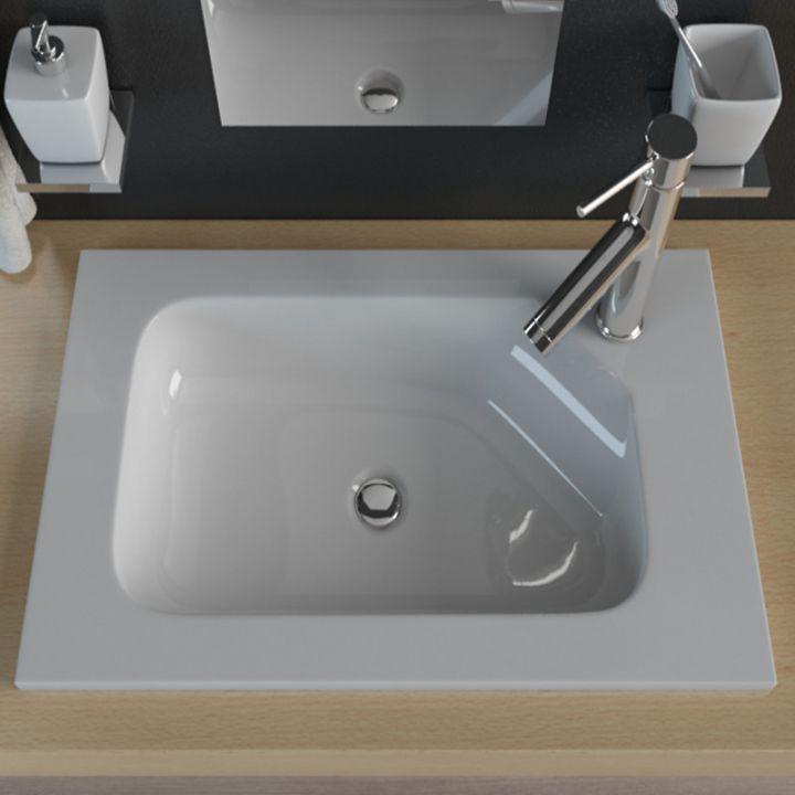 mineralguss einbauwaschbecken waschtisch aufsatzwaschbecken waschbecken kb mn600 ebay. Black Bedroom Furniture Sets. Home Design Ideas