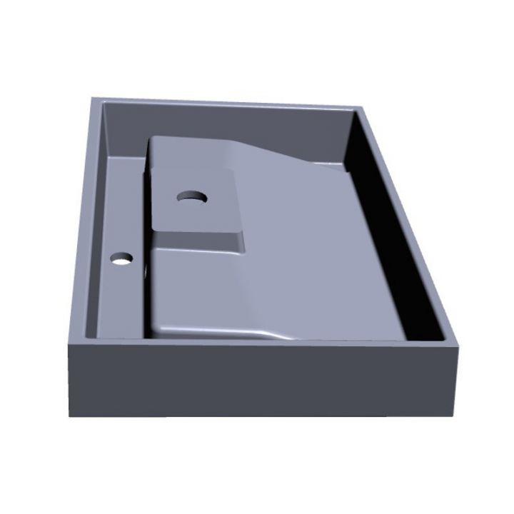 mineralguss waschbecken waschtisch aufsatzwaschbecken wandh ngend 90cm kb fl90 ebay. Black Bedroom Furniture Sets. Home Design Ideas