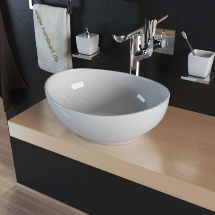keramik design aufsatzwaschbecken waschschale waschtisch waschbecken kbw082 ebay. Black Bedroom Furniture Sets. Home Design Ideas