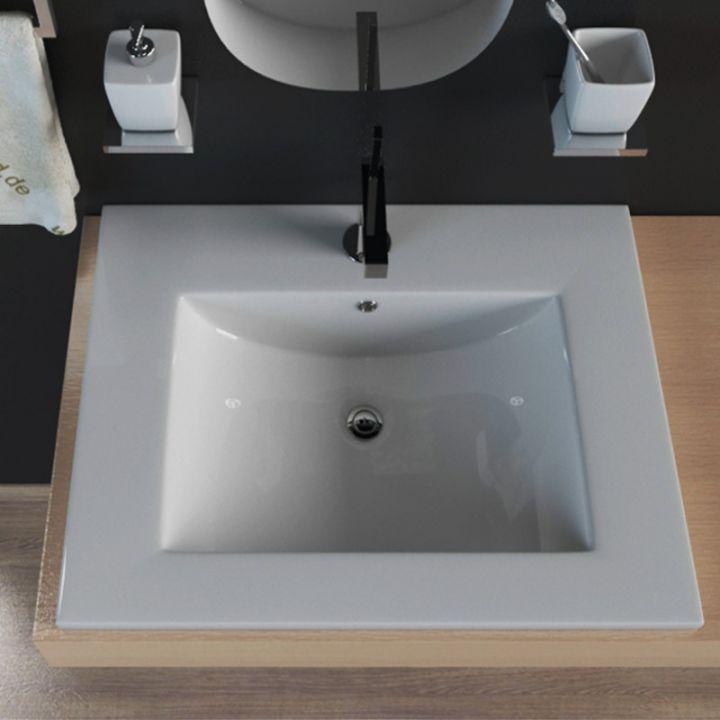 keramik waschbecken waschtisch einbauwaschbecken aufsatzwaschbecken kbw103 ebay. Black Bedroom Furniture Sets. Home Design Ideas