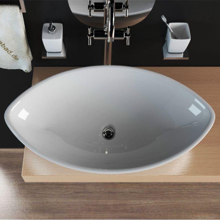 design keramik waschbecken waschtisch aufsatzwaschbecken waschschale kbw256 ebay. Black Bedroom Furniture Sets. Home Design Ideas