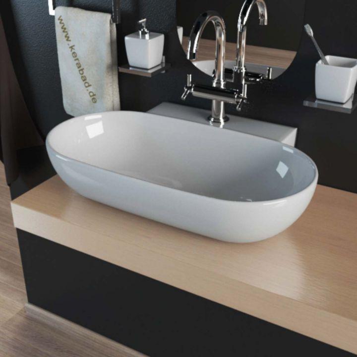 keramik aufsatzwaschbecken waschtisch waschbecken waschschale wandh ngend kbw171 ebay. Black Bedroom Furniture Sets. Home Design Ideas