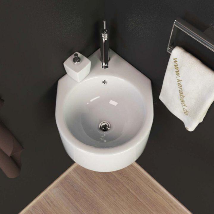 design keramik eckwaschtisch eckwaschbecken waschbecken f r g ste wc kbw05 ebay. Black Bedroom Furniture Sets. Home Design Ideas