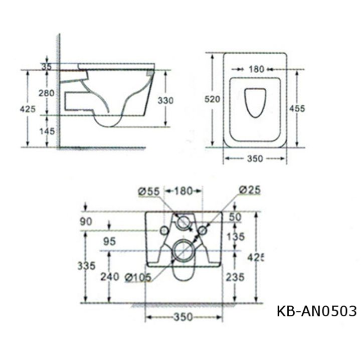 design wand h nge wc toilette sch ssel inkl wc sitz mit. Black Bedroom Furniture Sets. Home Design Ideas