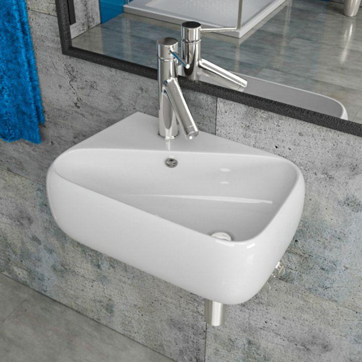 design keramik waschbecken waschtisch aufsatzwaschbecken f r g ste wc kb p7958 ebay. Black Bedroom Furniture Sets. Home Design Ideas
