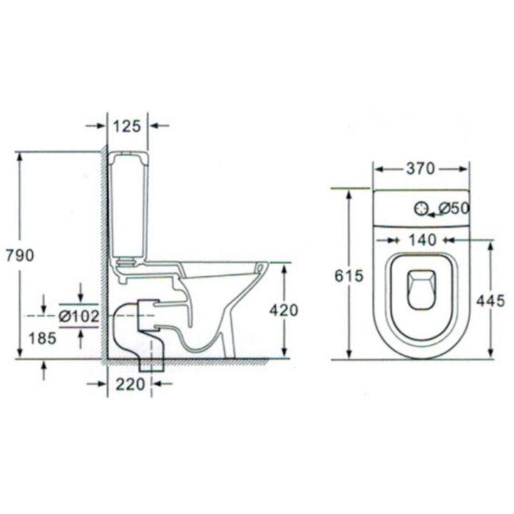 randlose stand wc kombination sp lkasten wc sitz duroplast sp lrandlos kb1223 ebay. Black Bedroom Furniture Sets. Home Design Ideas