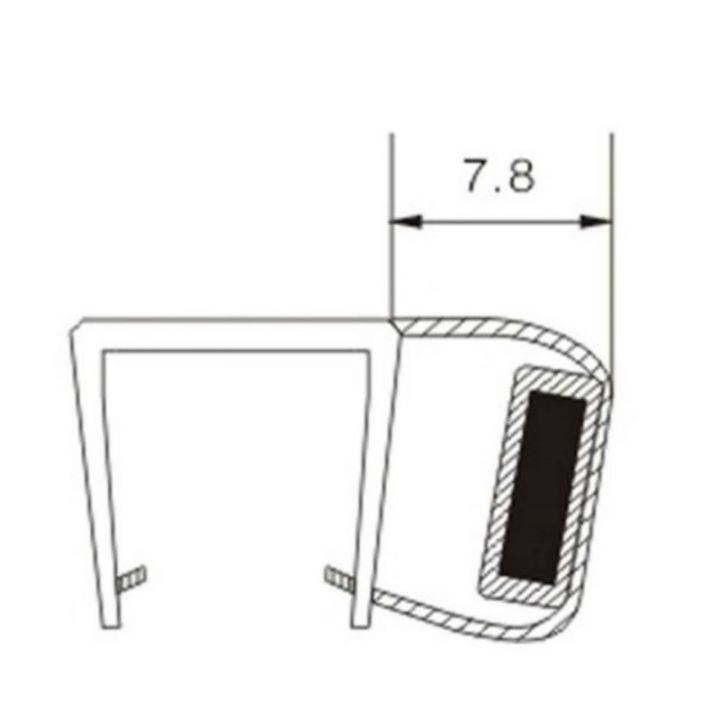 duschdichtung magnetdichtung eck magnetschlie leiste 90 2m kbp004 ebay. Black Bedroom Furniture Sets. Home Design Ideas