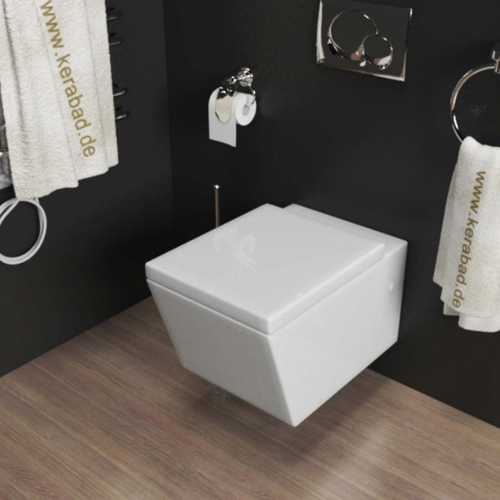 design wand h nge wc h nge bidet inkl wc sitz aus duroplast eckig kb89 set ebay. Black Bedroom Furniture Sets. Home Design Ideas