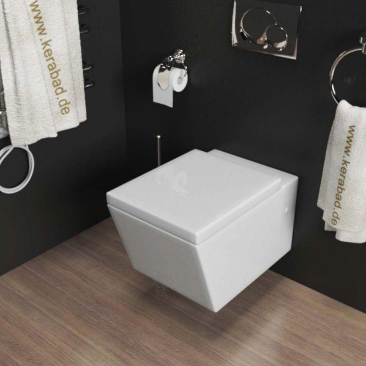 design wand h nge wc h nge bidet inkl wc sitz aus duroplast eckig kb89 set ebay. Black Bedroom Furniture Sets. Home Design Ideas