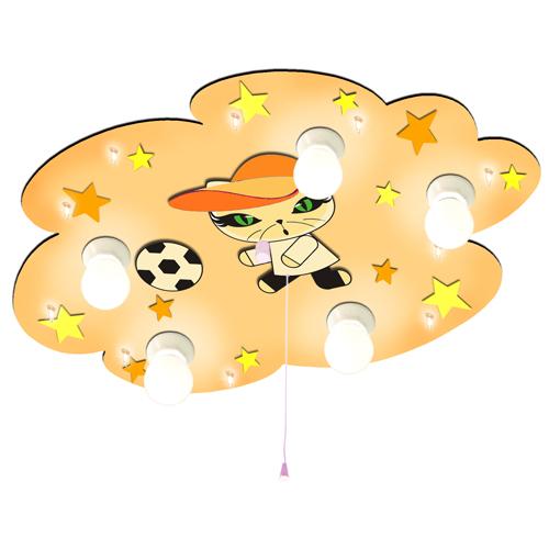 kinderlampe fussball katz m nachtlicht deckenlampe. Black Bedroom Furniture Sets. Home Design Ideas