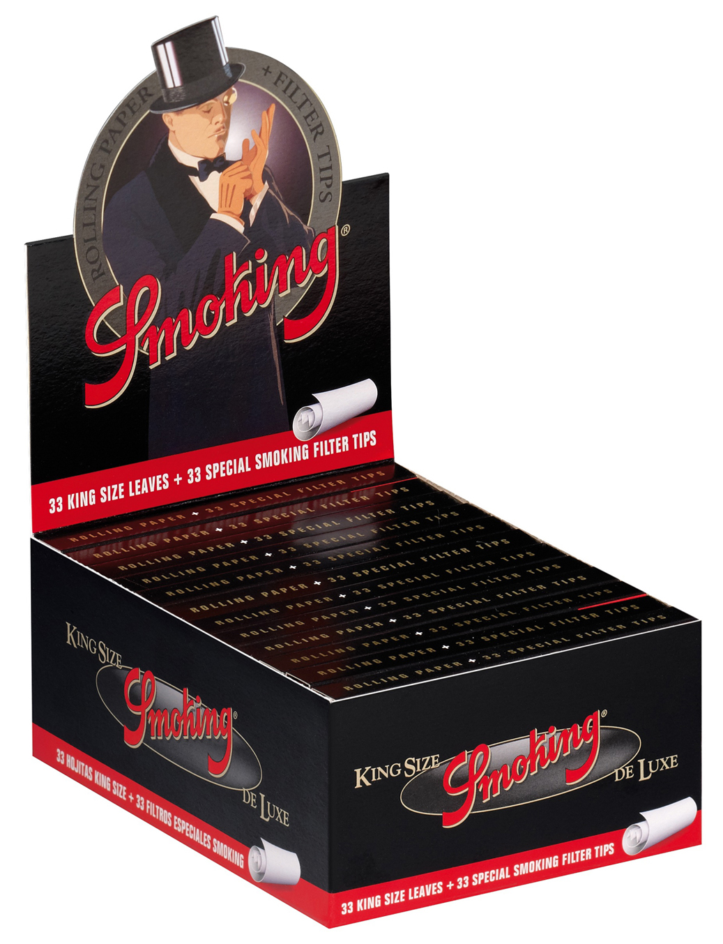 12x smoking deluxe papers tips king size slim filtertips integriert neu. Black Bedroom Furniture Sets. Home Design Ideas