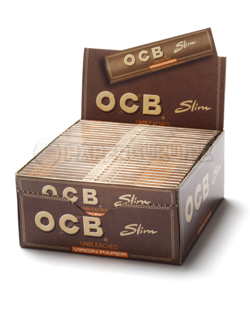 20x ocb unbleached virgin slim king size papers ungebleichte bl ttchen neu ebay. Black Bedroom Furniture Sets. Home Design Ideas
