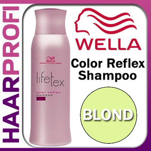 wella lifetex color reflex shampoo blond 250ml f r blondes haar 8 76eur 100ml ebay. Black Bedroom Furniture Sets. Home Design Ideas
