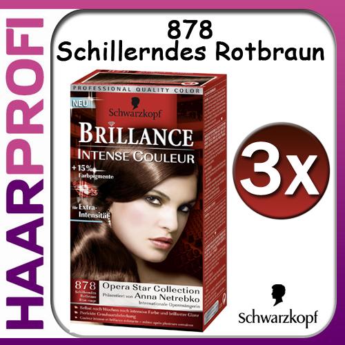 3x schwarzkopf poly brillance 878 schillerndes rotbraun intensiv color haarfarbe ebay. Black Bedroom Furniture Sets. Home Design Ideas
