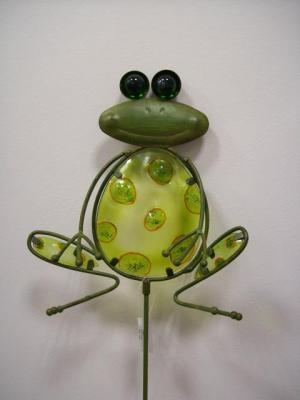 formano gartenstecker frosch aus metall mit glas 90 cm formano deko ebay. Black Bedroom Furniture Sets. Home Design Ideas