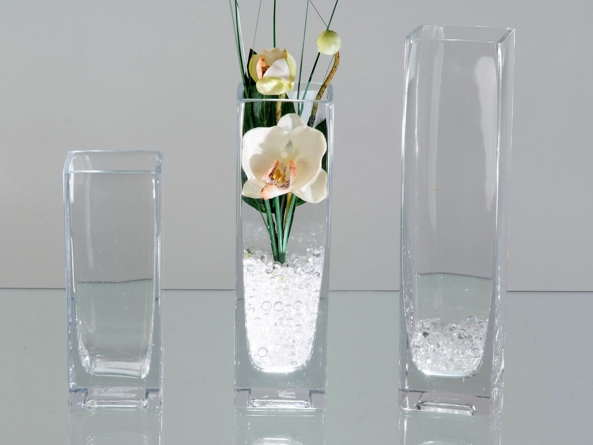 vase aus glas eckig 15 cm hoch formano deko links ebay. Black Bedroom Furniture Sets. Home Design Ideas
