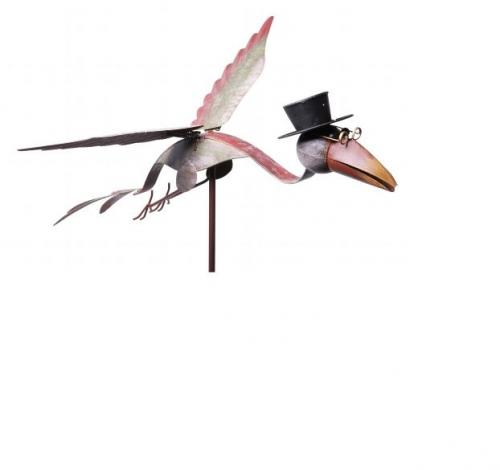 Windspiel vogel aus metall 125 cm hoch exner gartendeko for Gartendeko metall vogel
