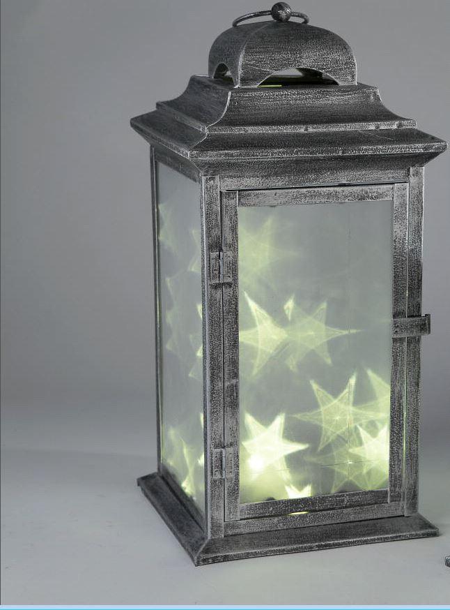Formano Laterne Aus Metall 42 Cm Mit Led Lichterkette