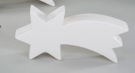 formano deko stern mit schweif aus porzellan weiss 28 cm