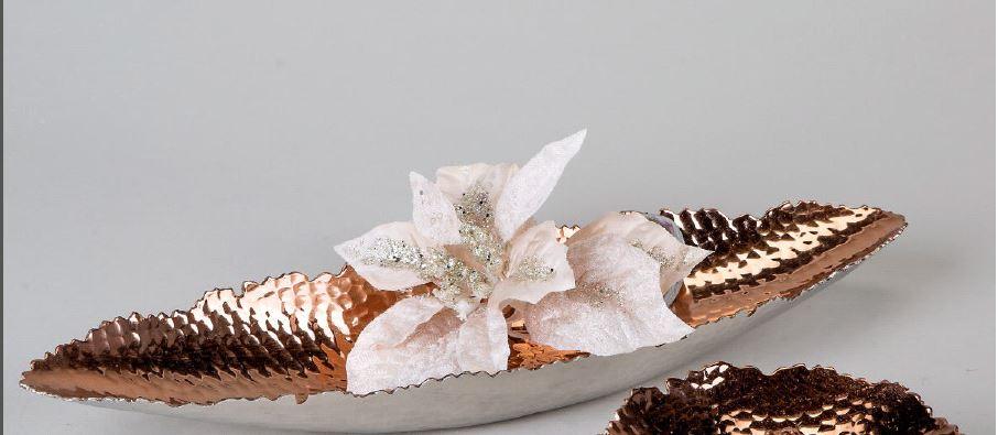 Formano deko schale schiffchen aus metall 40 cm silber for Deko aus silber