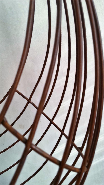 Gartendeko deko korb pflanzobjekt metall rost drahtkorb for Deko aus metall rost
