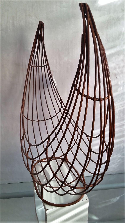 Gartendeko deko korb pflanzobjekt metall rost drahtkorb for Korb deko