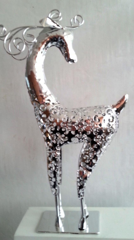 hirsch elch metall deko figur terrasse wintergarten weihnachtsdeko weihnachten ebay. Black Bedroom Furniture Sets. Home Design Ideas