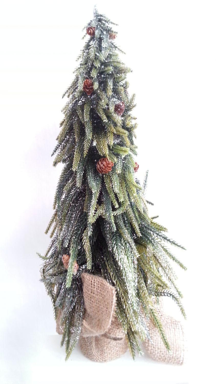 k nstlicher weihnachtsbaum zapfen tannenbaum juteballen christbaum adventsdeko ebay. Black Bedroom Furniture Sets. Home Design Ideas